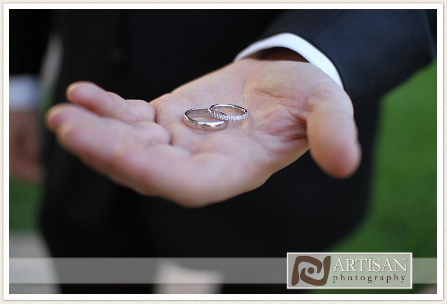 Camelback Inn Wedding Image of groom hand with wedding rings