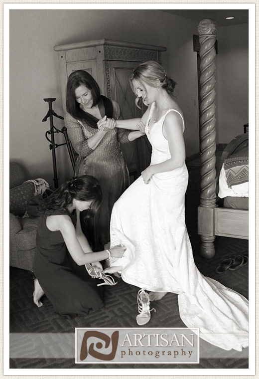 Camelback Inn Wedding Image of bride getting ready