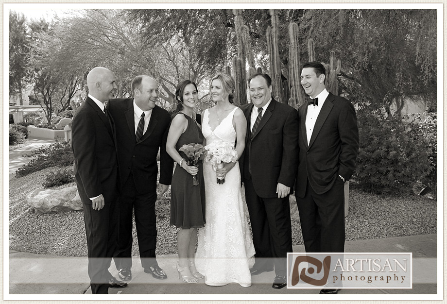 Camelback Inn Wedding Image of bride and her brothers