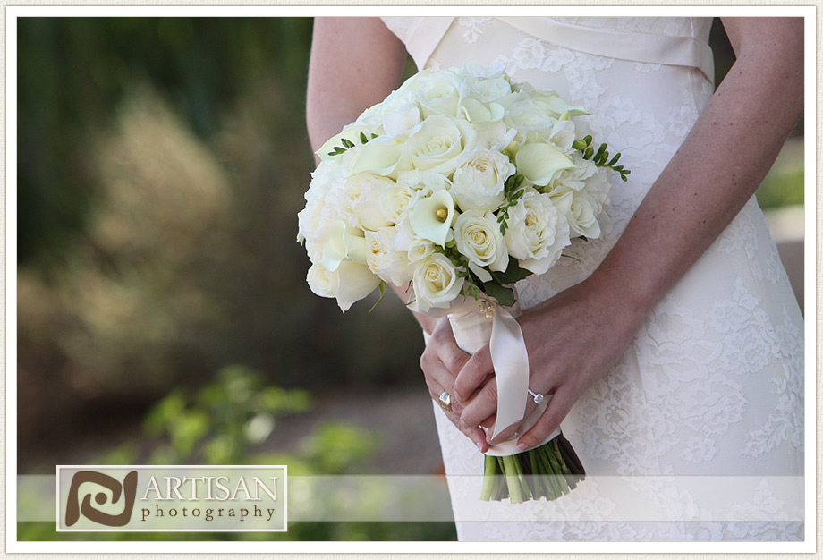 Camelback Inn Wedding Image of bridal bouquet white flowers