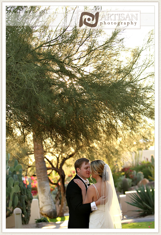 Camelback Inn Wedding Image of  bride and groom kissing