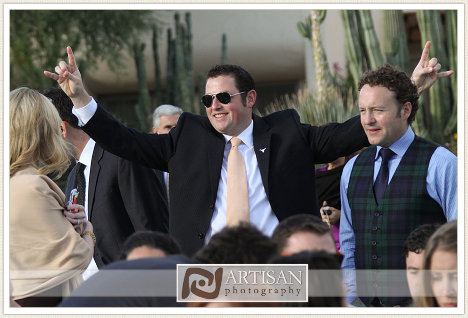 Camelback Inn Wedding Image of  guests having fun - candid shot