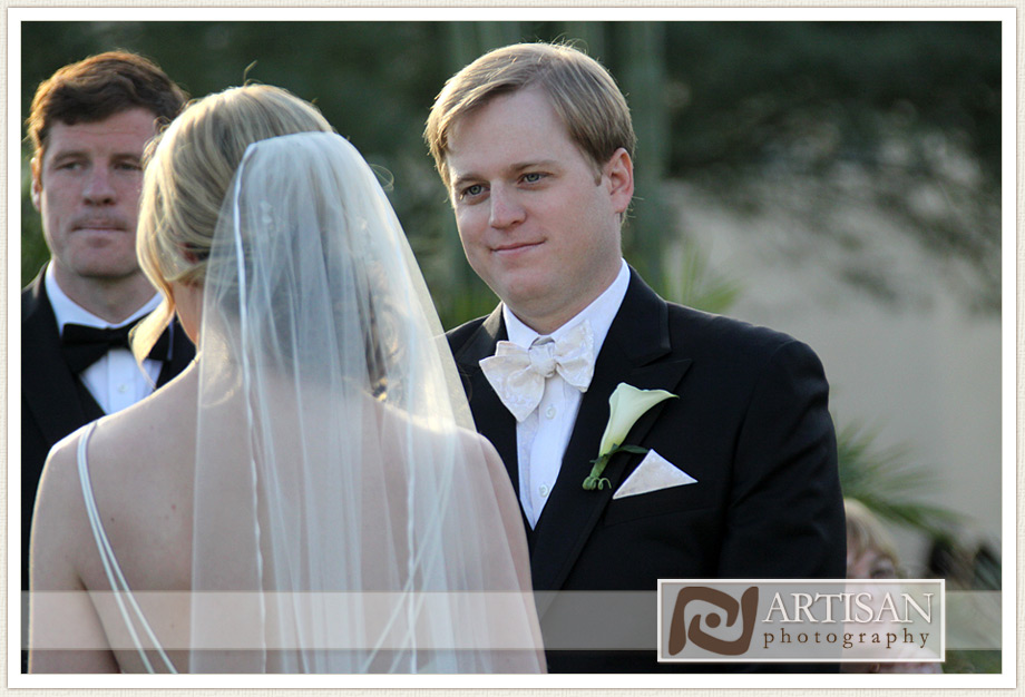 Camelback Inn Wedding Image of  groom looking at bride suring the ceremony