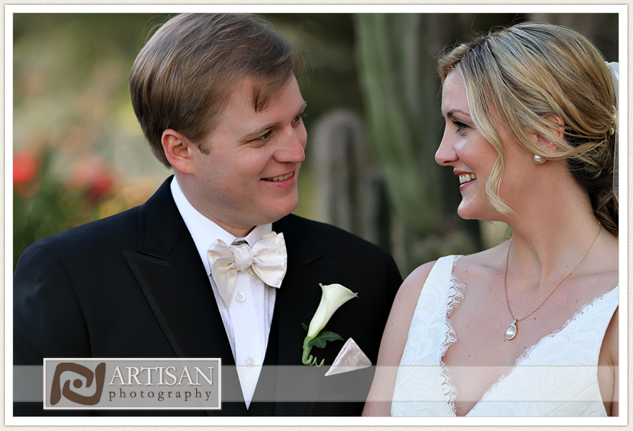Camelback Inn Wedding Image of bride and groom candid moment