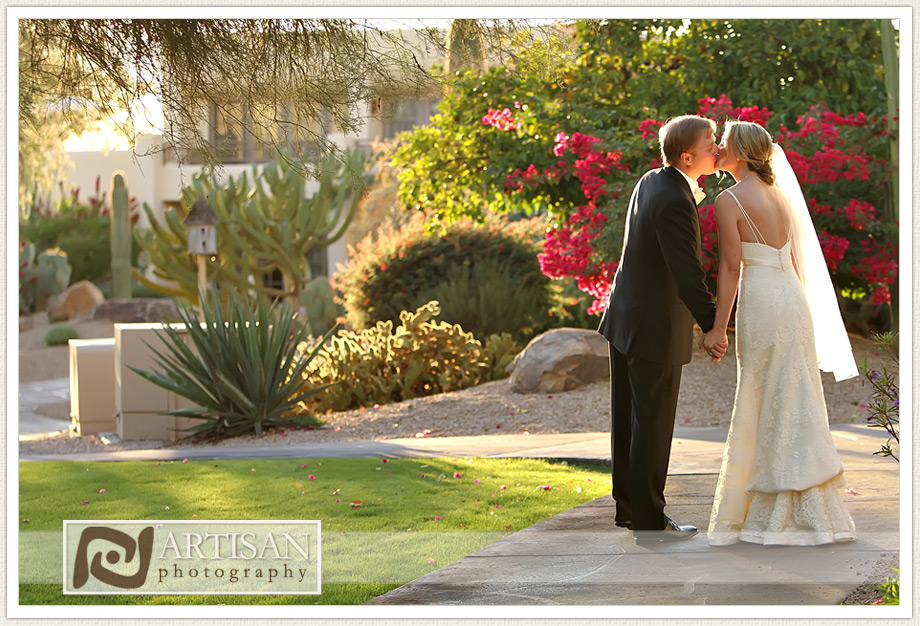 Camelback Inn Wedding Image of bride and groom candid shots