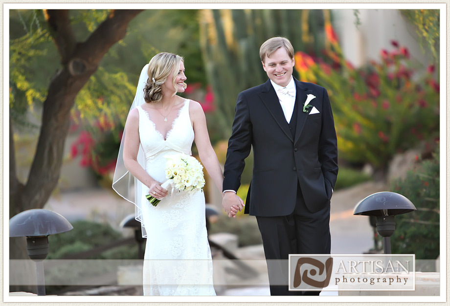 Camelback Inn Arizona Wedding Image of bride and groom candid shots