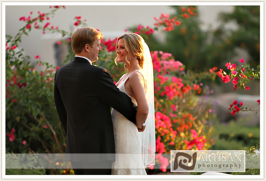 Camelback Inn Arizona candid Wedding Image of bride and groom
