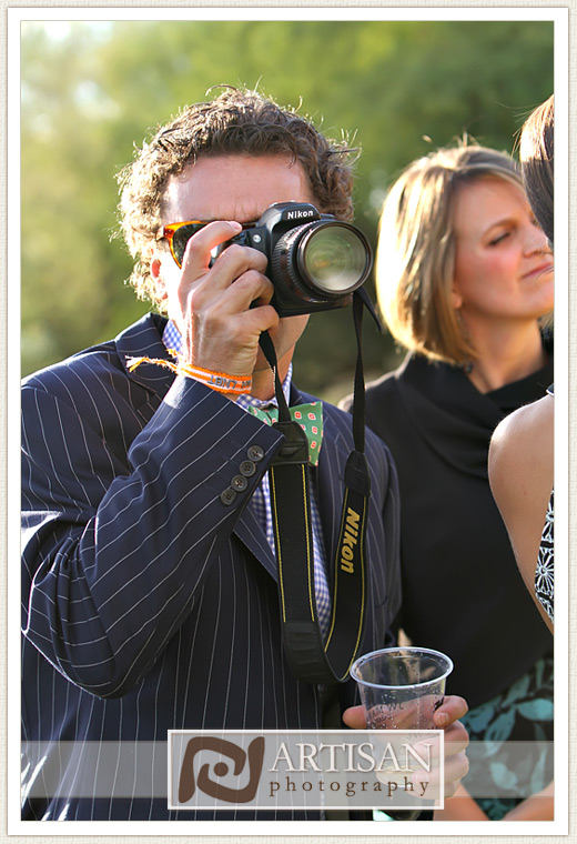 Camelback Inn Wedding Image of guest taking picture