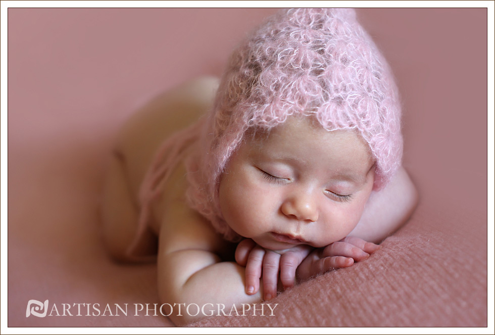 picture of baby girl in pink hat