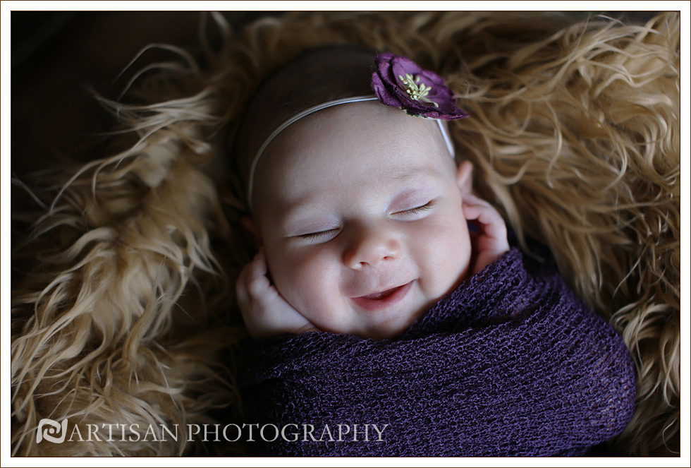 picture of baby girl close up picture with a smile
