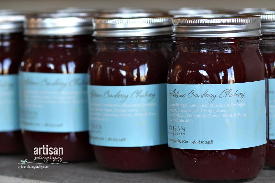 Artisan Photography famous Cranberry Chutney jars