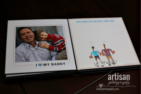father's day album design page