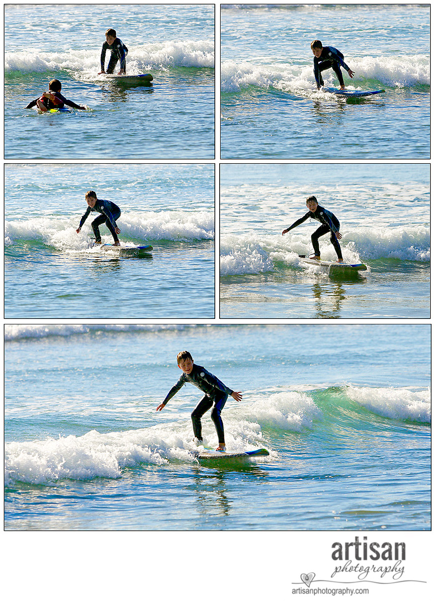 Carlsbad kid surfing