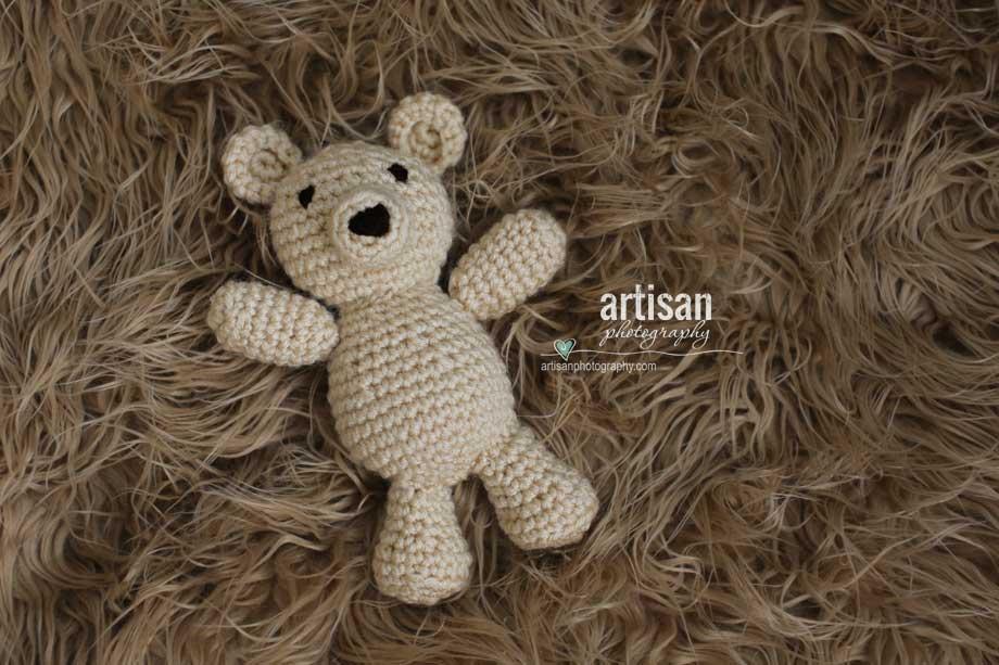 Artisan Photography photo prop little light tan bear