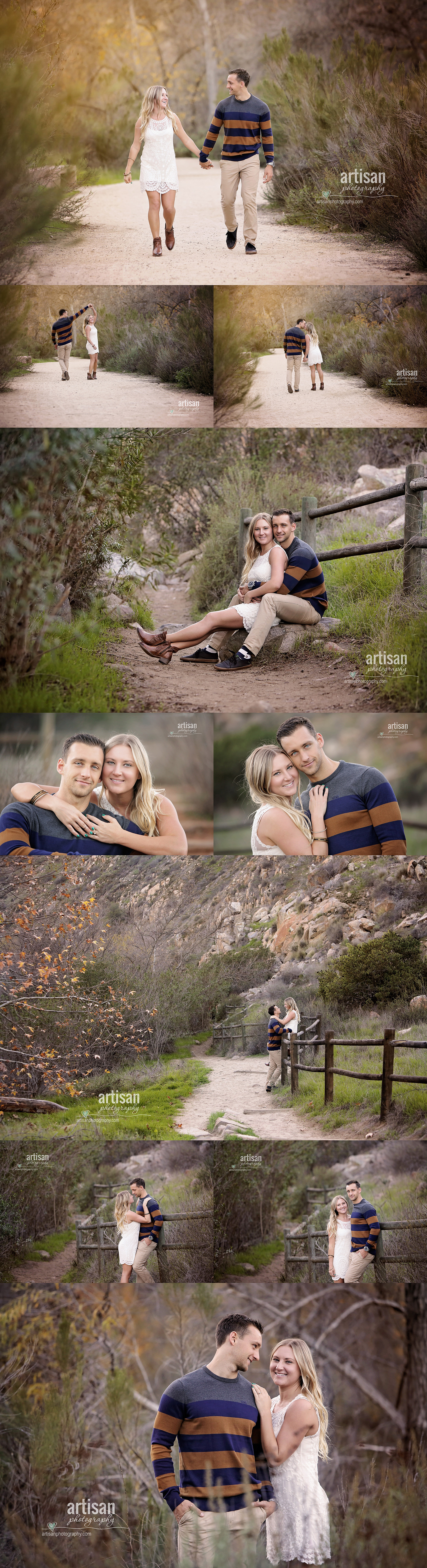 Fun life style engagement photo shoot with a country look in San diego south California part 1