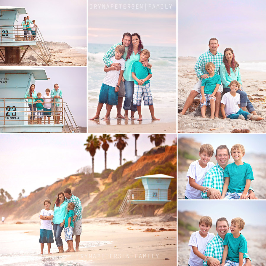 Carlsbad family photos on the beach. Processed by ArtisanPhotography. Carlsbad beach photographer. photos at the life guard station