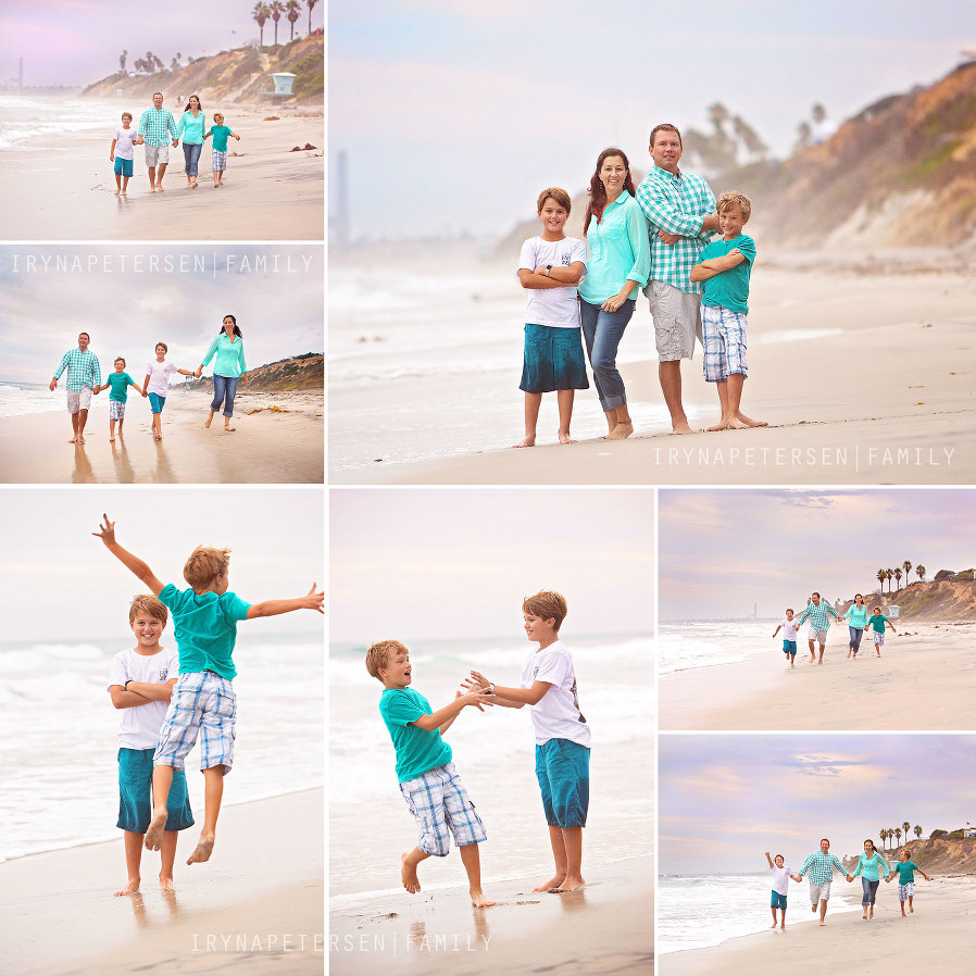 Carlsbad family photos on the beach. Processed by ArtisanPhotography. Carlsbad beach photographer. Beach Walking photos