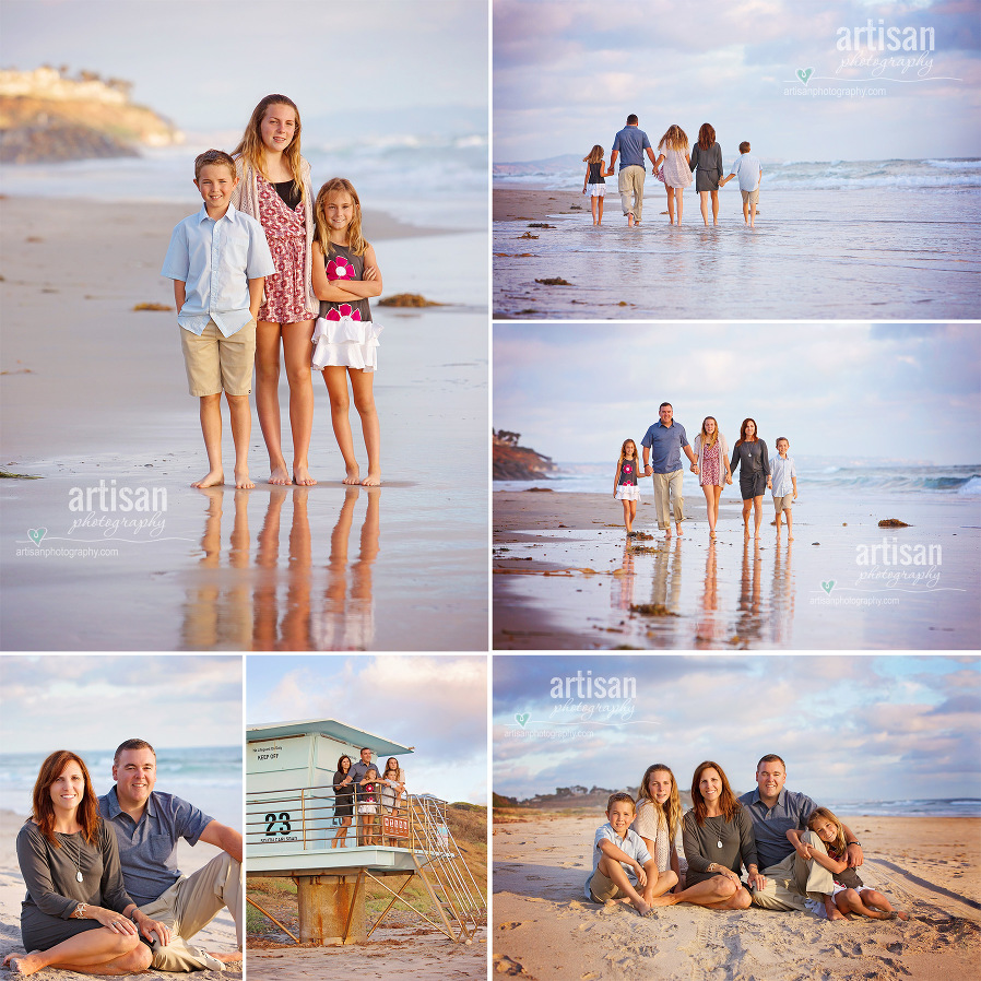 Carlsbad beach photographer images of a family photoshoot on the beach. Greater San Diego beach photoshoot
