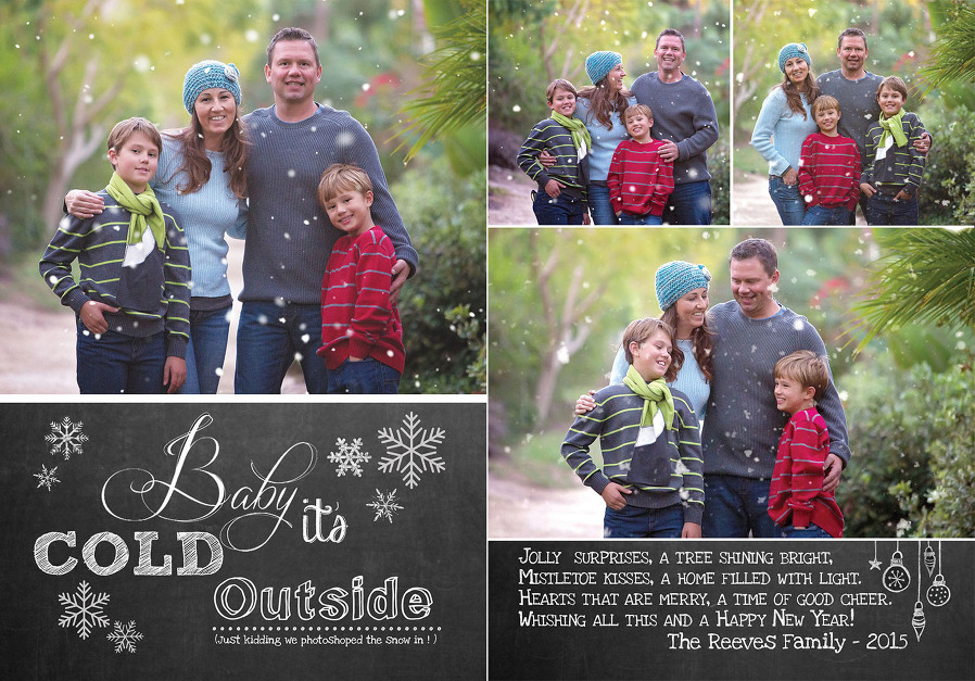 Artisan Photography Christmas card images with snow flakes