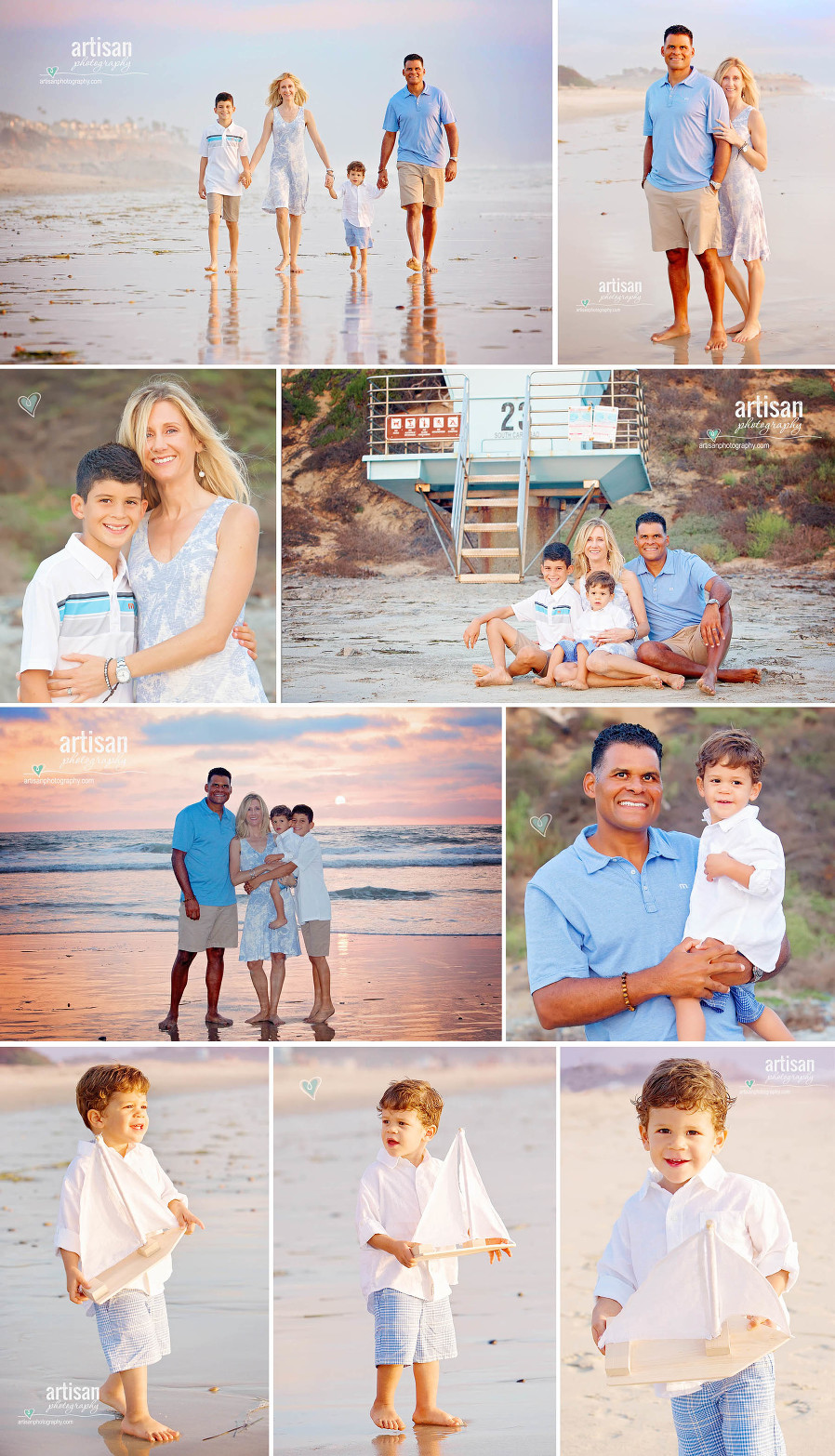 Carlsbad beach family photography, beautiful beach sunset images