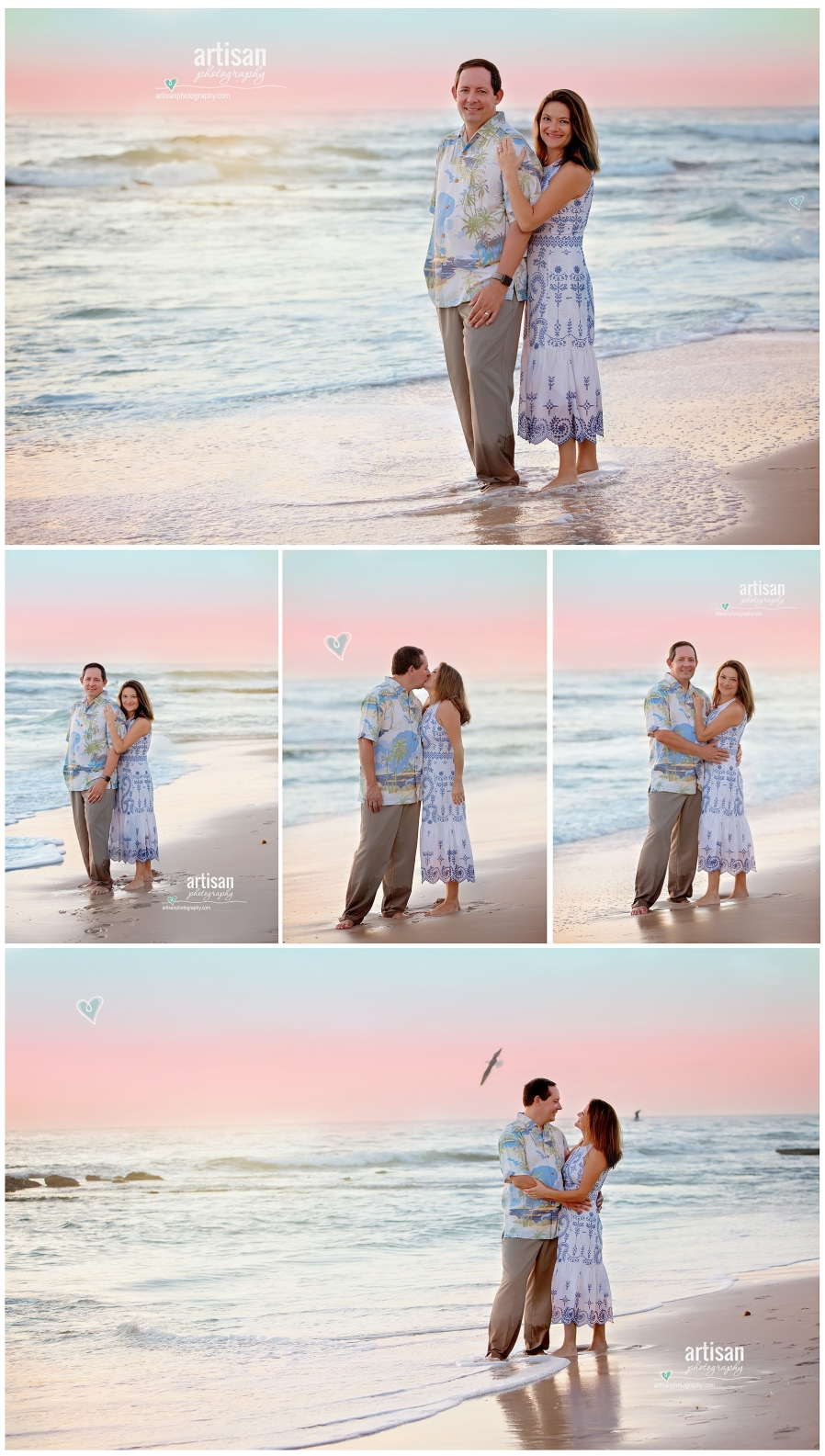 Beautiful couple photoshoot on the beach with sunset in the background, San Diego, La Jolla California beach. Beach family photographer